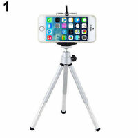 Rotatable Mini Tripod Stand + Holder For Mobile Phone Camera iPhone Samsung Sony