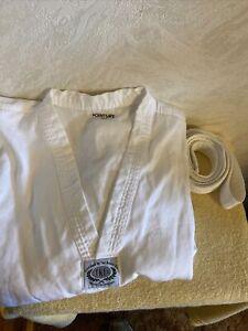 Century 7 oz. Tae Kwan  do  Uniform with Elastic Pant - White Size 5(L)