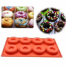 Silicone Donut 8 Circle Mould Chocolate Sweet Tray Cake Baking Pan Maker Soap UK