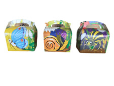 Bugs insects Meal Boxes kids party cupcake favour gift boxes - pack of 8