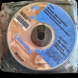 Microsoft Office Professional Edition 2003 ENTERPRISE Version NEW SEALED