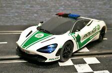 1/32 Slotcar Scalextric McLaren 720S Police Car Sound und Licht C4056