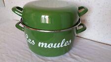"""Faitout Marmite """" Les moules """"  25 cm de diamètre par 14 cm de haut + couvercle"""