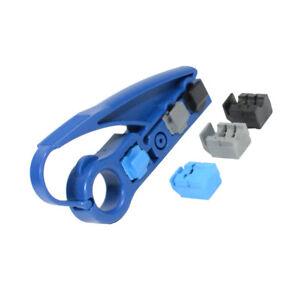 Coax UTP Cable Jacket Strip Tool RG6/RG59/UTP Stripper Cutter Cat5e Cat6 Tool