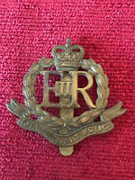 Royal Military Police Brass Cap Badge ER II JR Gaunt Army Military Genuine 23/8