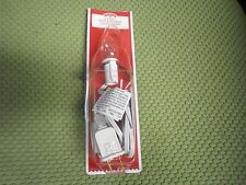 New ! Holiday Time Christmas Village 4 Foot White Replacement Light With Switch