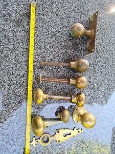 Old brass door knobs