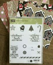 Stampin Up retired CANDY CANE CHRISTMAS stamps & DSP ~Cookies mittens Sentiments