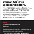 Verizon Wireless Unlimited Cellular 5G DATA WITH UNLIMTED 5G HOTSPOT $75 (SALE)