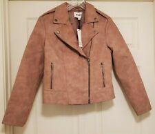 NWT BB DAKOTA Twilight Women's Easy Rider Faux Leather Jacket Birch Sz M NEW