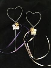 """6 -12"""" Heart Sparklers With Bell, Love Tag & Ribbon Wedding Valentine Party ❤️"""