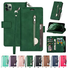 Fr iPhone 11 Xs Max 8 7 6s Plus Case Zipper Flip Leather Card Slot Wallet Cover