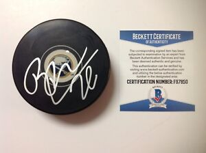 Rasmus Dahlin Signed Autographed Buffalo Sabres Hockey Puck Beckett BAS COA a