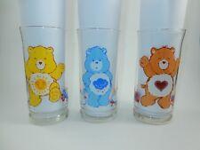 Pizza Hut 1983 Ltd Edition Care Bears Glasses Funshine Grumpy & Tenderheart Bear