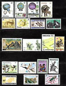 Rwanda .. colourful stamps .. 4390