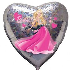 "Amscan 18"" Barbie Love Cuori Originale Foil Balloon Ragazze Festa"