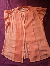 Bonita blusa camisa manga corta solor naranja salmon talla 38 marca H&M