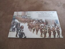 World War1 Bamforth Songs postcard - British Army street parade -3