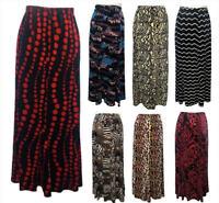 New Ladies Mermaid Stretch Long Maxi Velvet Skirt Gypsy Muslim 12 14 16 18 20 22