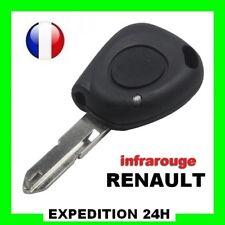 Télécommande coque de clé plip 1 bouton infrarouge Renault Clio Top Qualité GZ
