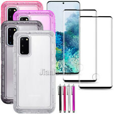 For Samsung Galaxy S20 Plus Ultra 5G Clear Case Cover Tempered Glass Protectors