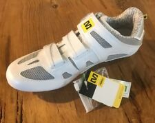 Mavic Giova Women's Road Cycling Shoes US 9.5 White/Silver/Yellow New old stock