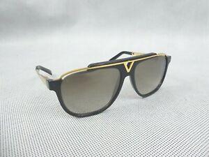 Louis Vuitton Black Acetate Frame Mascot Sunglasses Z0936W Used Good Condition