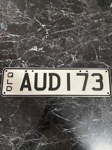 AUDI Personalised Qld Number Plates, Set Of 2