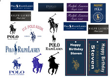18x RALPH LAUREN TAGS AND LOGO'S edible  Toppers ICING sheet birthday cake party