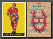 Jean Beliveau #49, Reprint 1960-61 Parkhurst, Montreal Canadiens, mint condition