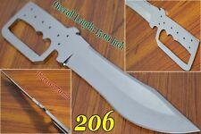 "15"" Custom made D2 steel  blank blade knife for knife making suppliers dk-206"