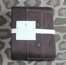 NEW Pottery Barn Kids Cargo duvet cover only queen Brown