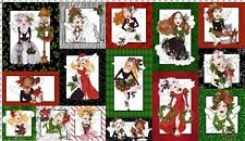 "Loralie Designs_Merry Fairy panel_24"" x 44""_15 lovely holiday ladies_wings_SALE"