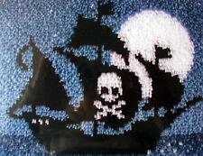 "LATCH HOOK NAUTICAL RUG  KIT    ""PIRATE SHIP"" +"