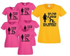 Junggesellinnenabschied T-Shirts  . Jetzt kommt er an die Leine . JGA Shirts