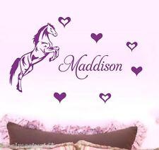 *Medium* Horse + Custom Name  3 DESIGNS  Bedroom Wall Sticker Personalised Pony