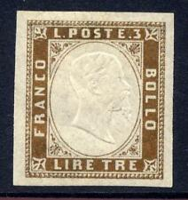 ITALY SARDINIA 1855 3l BRONZE MINT 4 LARGE MARGINS
