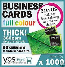 1000 BUSINESS CARDS + FREE DESIGN Full Colour Printing