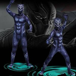 Marvel Black Panther Cosplay Costume Men Kid Boy Superhero Fancy Dress Up