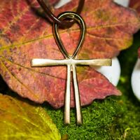 Kreuz des Atlantis 4,5cm Messing - Amulett