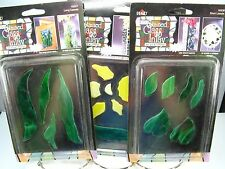 NIB Plaid STAINED GLASS INLAY By Vicki Payne NEW Lot of 3 - DAFFODIL 2 LEAVES