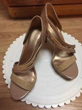 Bcbgeneration bcbg Womens Heels Beige Gold  Size 8 M