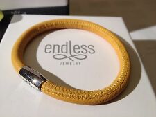Endless Jewelry 20cm Yellow Bracelet Single Strand Silver Clasp rrp £40