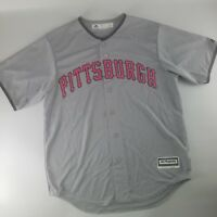 Pittsburgh Pirates MLB 2017 Majestic Cool Base Mother's Day Jersey Grey Pink BCA