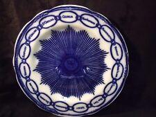 "Antique Staffordshire Flow Blue Martha Washington 8 7/8"" Chain of States Plate"