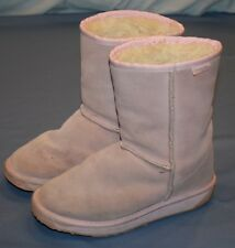 Womens Pink Emu Boots Sz 6 Suede Uppers Washable Wool Lining Ankle