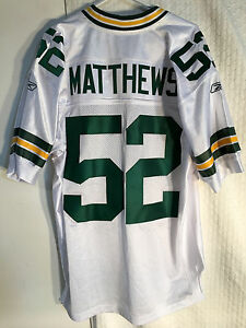Reebok Authentic NFL Jersey Green Bay Packers Clay Matthews White sz 46