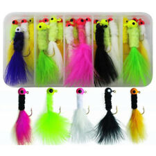 25pcs Jig Fishing Lure Crappie Fly Tying Jig Head Hooks Lure 1/8oz 1/16oz 1/32oz