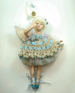 Katherine's Collection Angel Ballerina Doll Ornament in Blue