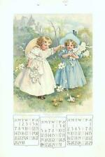 1907 Calendar (April-May-June)   -   by Maud Humphrey  -  Original Antique